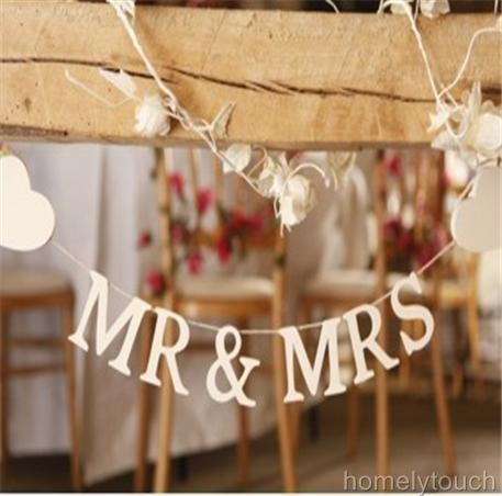 29 best table decor images on pinterest decorations bird cages new mr mrs garland bunting banner wedding table top decoration junglespirit Images