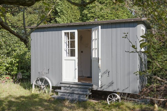 Shepherd's Hut in the Garden
