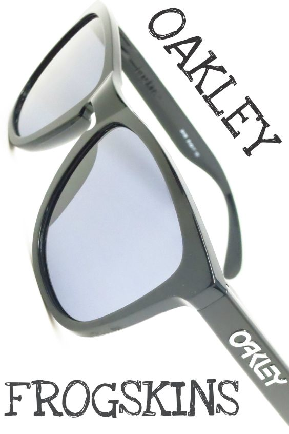 Oakley Frogskins 24-306 Polished Black Womens Sunglasses - On Sale!
