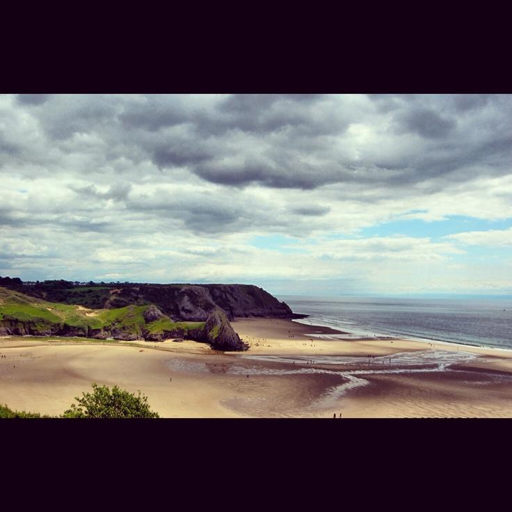 3 cliffs bay gower Wales