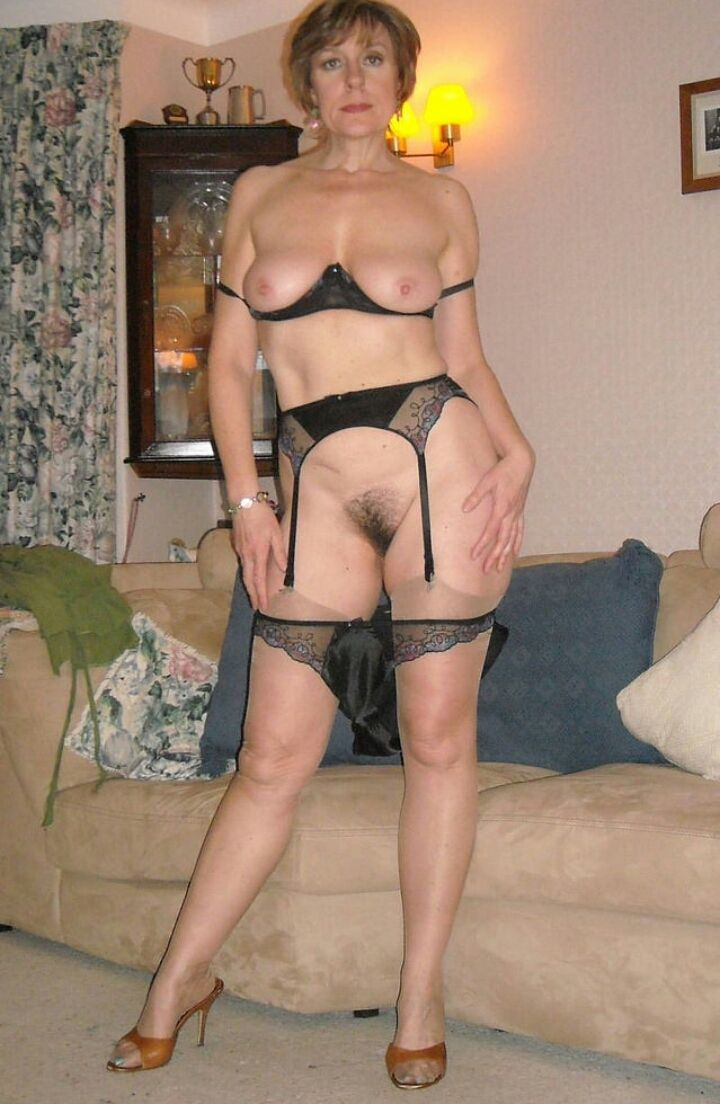 Older women in stockings