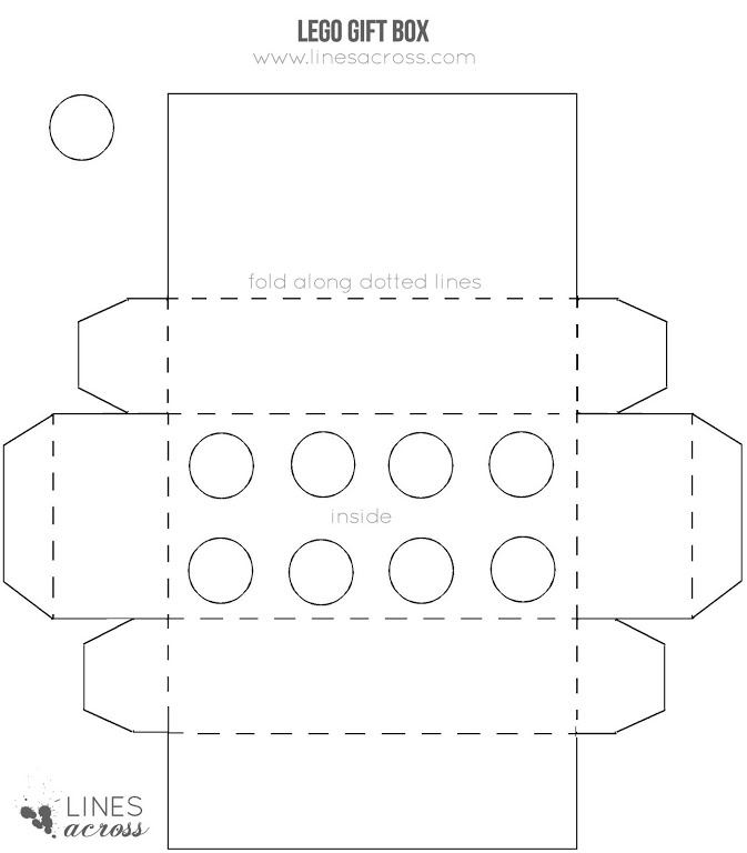 Large Lego Gift Box Template