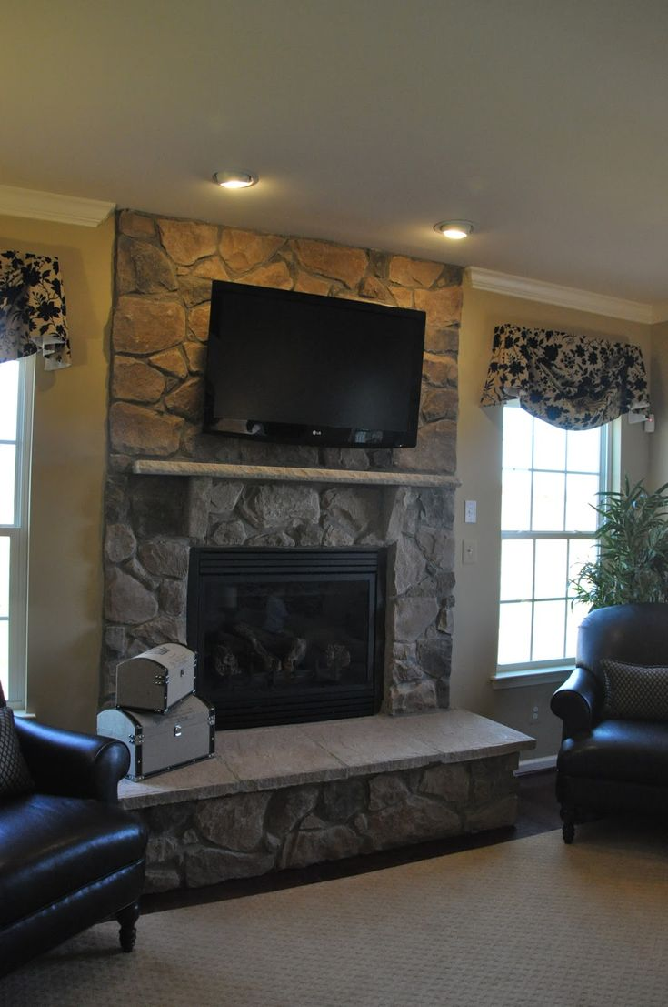 Building a Ryan Homes Ravenna: TV over the fireplace or ...