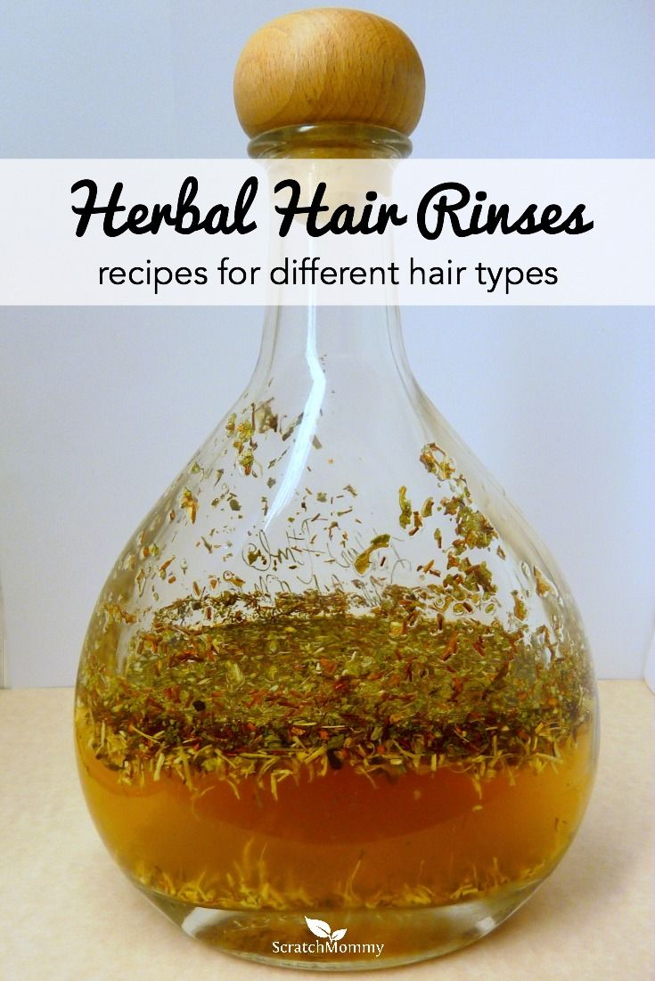 An herbal hair rinse is an inexpensive way to treat and strengthen your hair and your scalp. Click for 5 different DIY herbal hair rinses for all hair types.