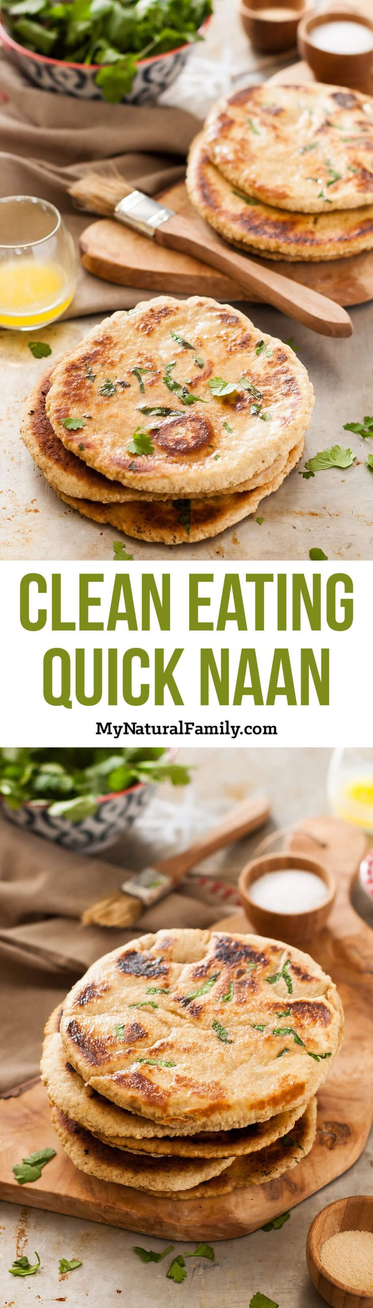 Yeast-Free Quick Naan Recipe {Clean Eating}