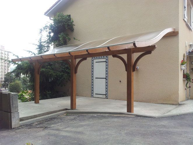 Covered Deck With Translucent Panels Building A Pergola