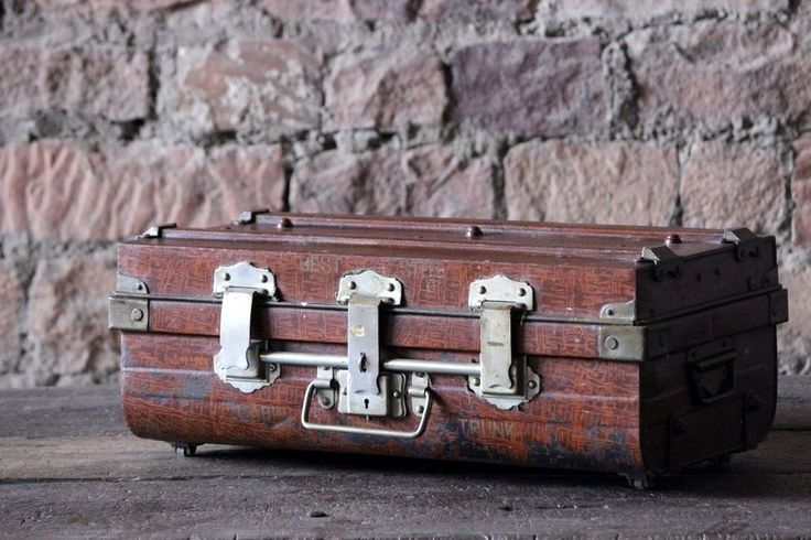Kamala Large 'Vintage' Metal Trunk
