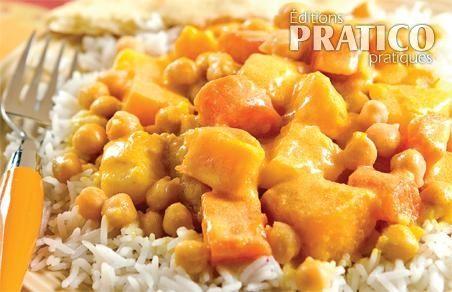 Korma de pois chiches à la courge musquée - Recettes - Cuisine et nutrition - Pratico Pratique