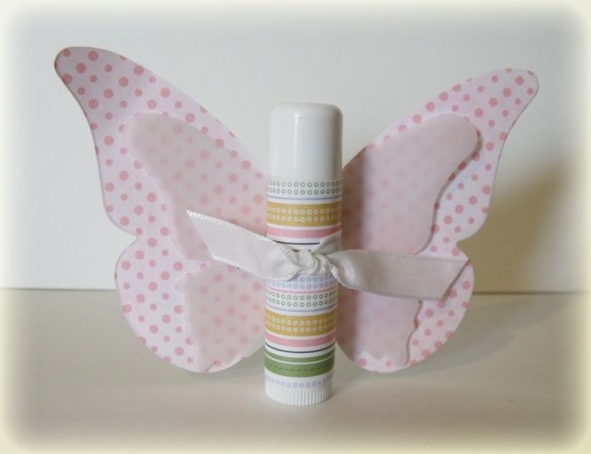 inexpensive ideas for small gifts. Love this chapstick butterfly