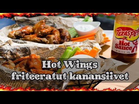 Friteeratut kanansiivet rasvakeittimessä - YouTube