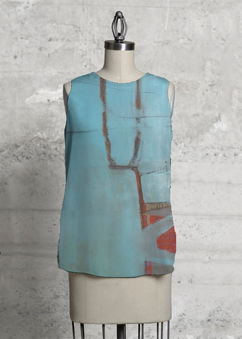 Printed Racerback Top - Blue Rose of Sharon by VIDA VIDA Clearance Cheapest Price Sale Largest Supplier Buy Cheap Recommend Outlet Genuine Genuine tuotDk3B2R