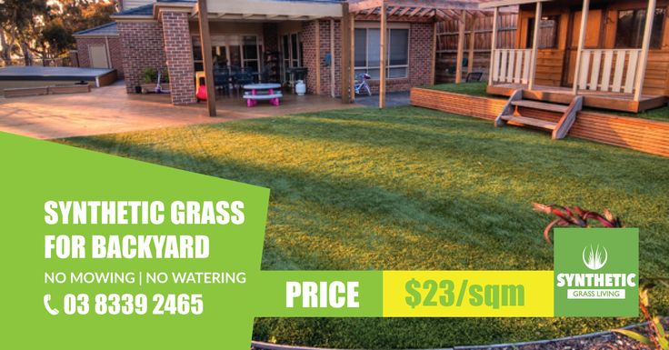 Increase Your House Value With Synthetic Grass!!  Prices $23/sqm, 40mm Synthetic Grass (Gold Class) 18,900/sqm High Stitches Count Sizes: Available in 2m or 4m wide. 10 years Guarantee from fading & UV resistant. #SyntheticGrass #Melbourne
