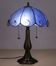 Blauw rijst wit Tiffany kleur glazen tafellamp Slaapkamer studie bureaulamp Tiffany verlichting lamp nachtlampje(China (Mainland))