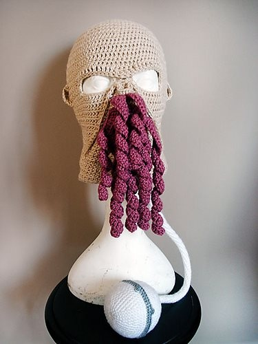 Ood mask: Ood Masks, Faces Masks, Halloween Costumes, Doctors Who, Skiing Masks, Ood Skiing, Dr. Who, Crochet Patterns, Halloween Masks