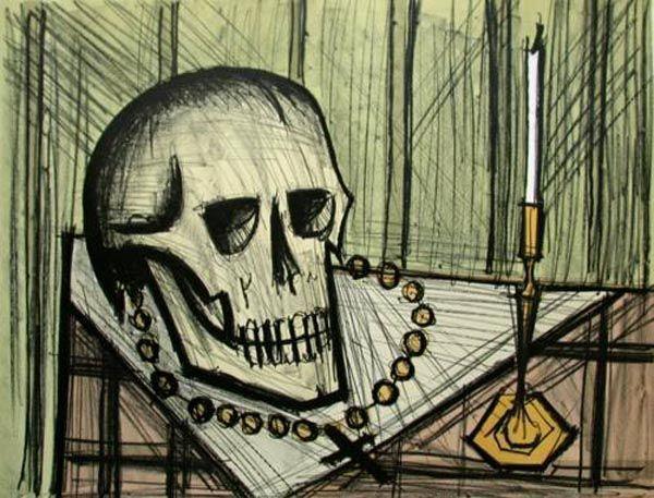 Bernard Buffet - Vanity Skull