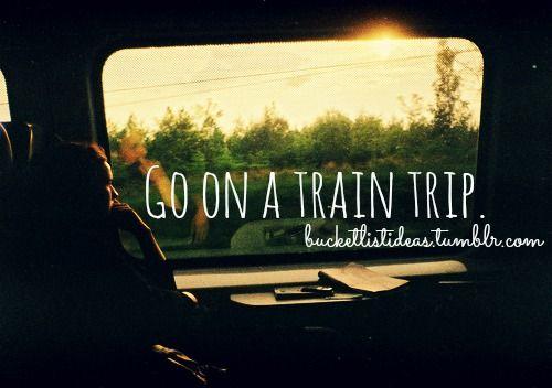 #bucketlist >>The kind where you travel far and sleep on-board.