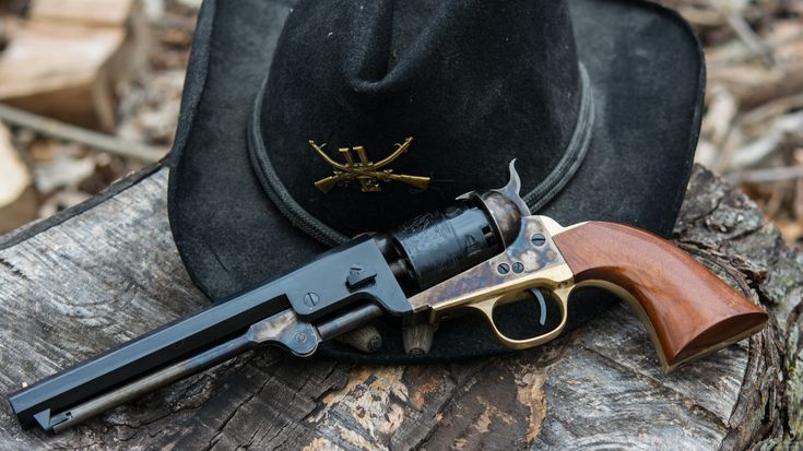 A Cavalry Man's Trusted Companions // 1851 Colt navy replica by Uberti w/ Cavalry Hat