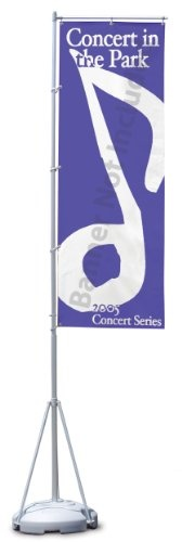 Advertising Flag with Telescoping Pole & Water Base; Portable – Flag NOT Included. Details at http://youzones.com/advertising-flag-with-telescoping-pole-portable-flag-not-included/