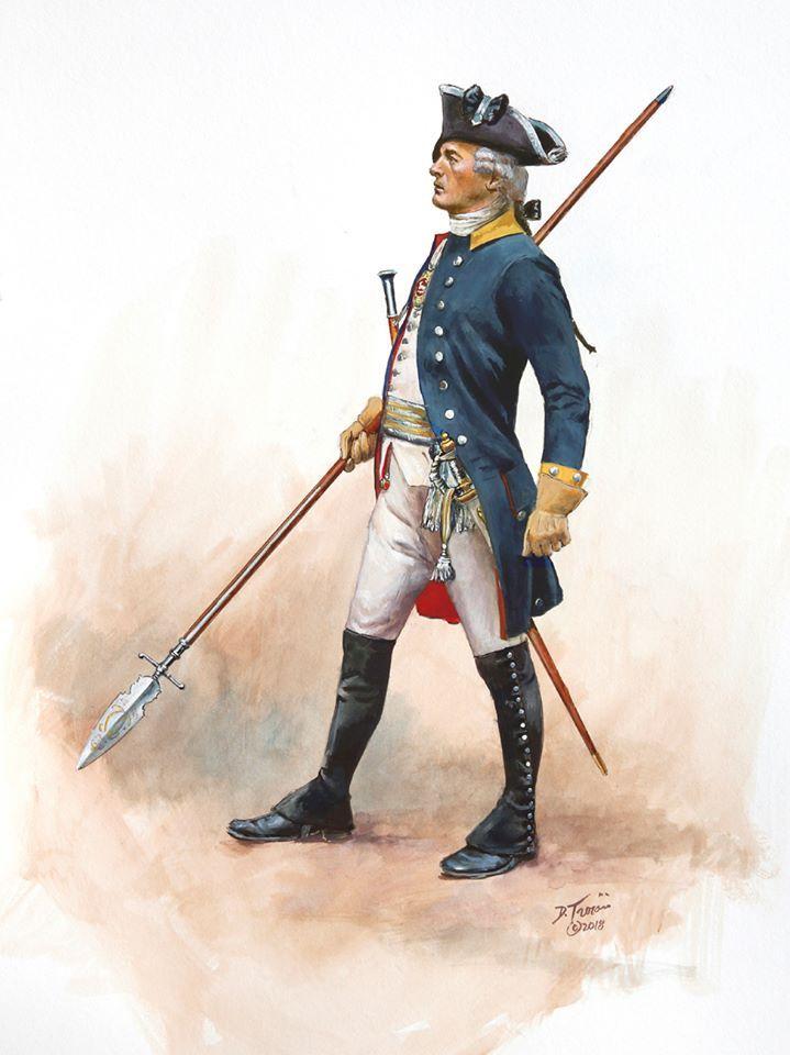 Brunswick; Regiment Prinz Friedrich, Officer, Burgoyne's Saratoga campaign of 1777 by Don Troiani