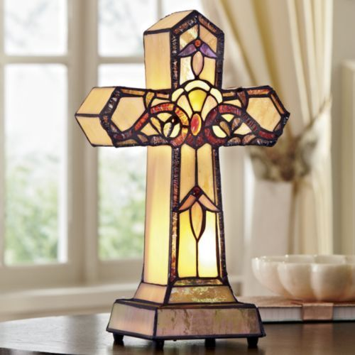 Stained glass cross accent light from midnight velvet if you love looking at the