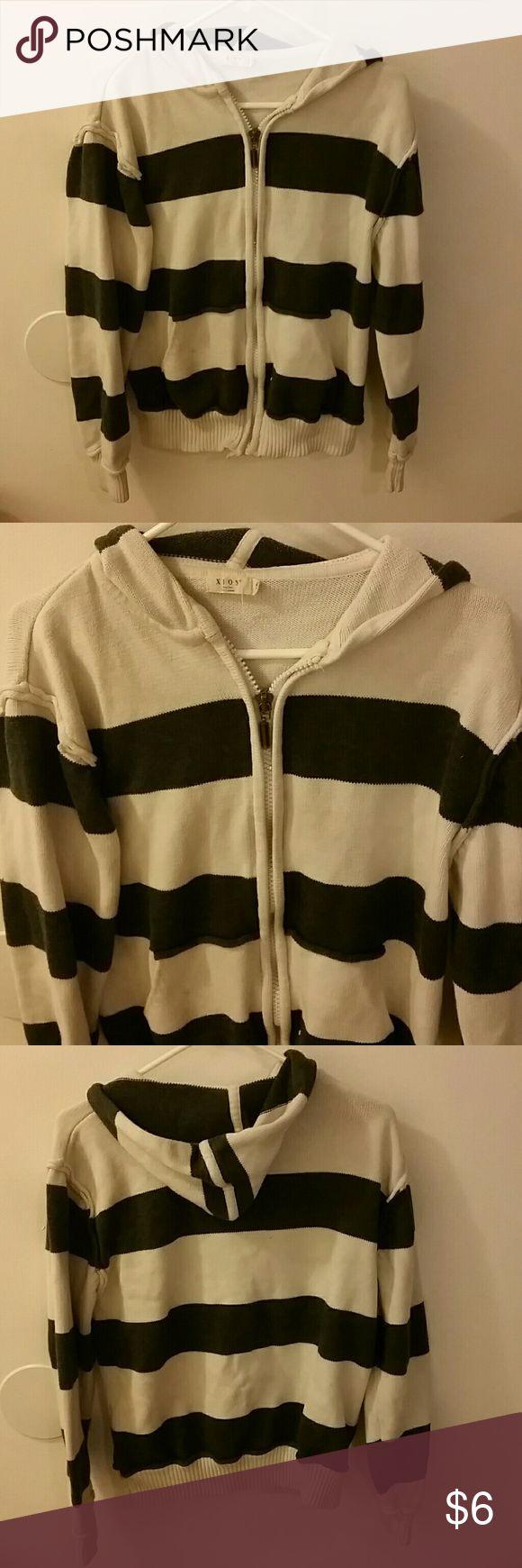 Men's striped zip up hoodie Men's striped zip up hoodie xios Sweaters Zip Up