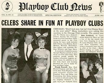 Play Boy Club chicago | Vargas Girl Pin-Up April 1966 Vintage Playboy Mature Print