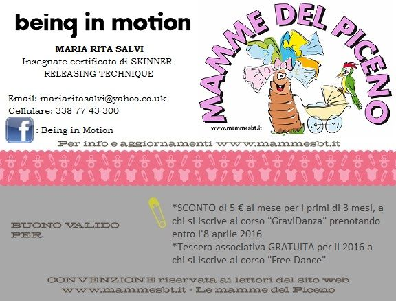 Nuova convenzione - BEING IN MOTION