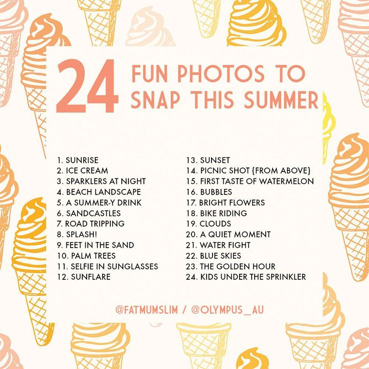 24 shots you need to snap this summer