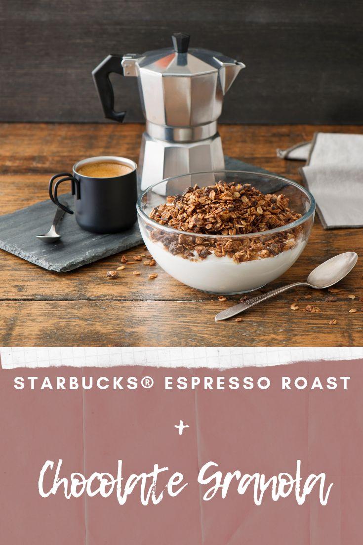 Chocolate granola + Starbucks®Espresso roast Chocolate