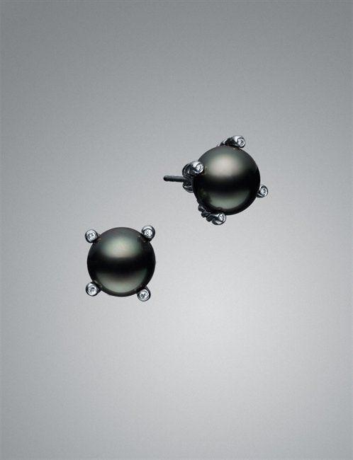 David Yurman Black Pearl Earrings.