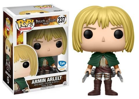 A couple of retailer exclusives are joining the recently announced new wave of Attack on Titan Pop!s!Pop! Animation: Attack on Titan - Armin Arlelt (FYE Exclusive)Pop! Animation: Attack on Titan - Sasha Braus (GameStop Exclusive)   Available by late May!