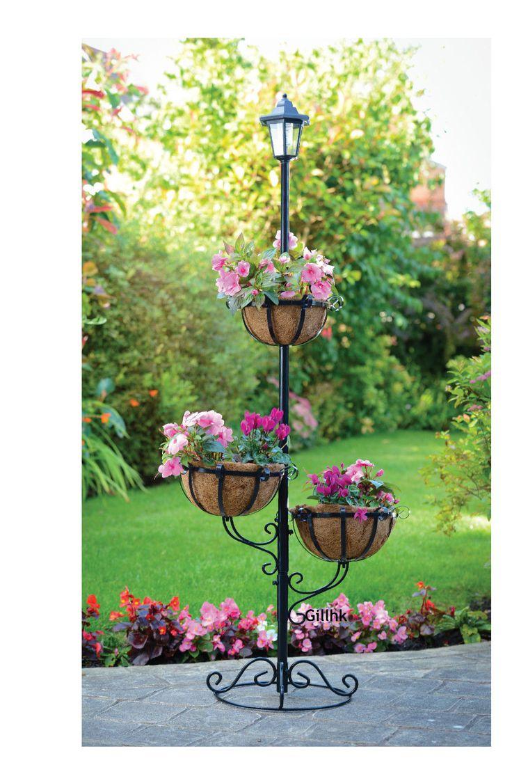 Garden Outdoor 8 Tier Solar Powered Stylish Flower Planter With ...