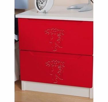 First Team Furniture Manchester United 2 Drawer Bedside Cabinet The Manchester United 2 Drawer Bedside Cabinet is a great nightstand for any football-mad enthusiast. Who wouldn™t love to have their club™s logo proudly and permanently carved into the drawer fronts  http://www.comparestoreprices.co.uk/bedroom-furniture/first-team-furniture-manchester-united-2-drawer-bedside-cabinet.asp
