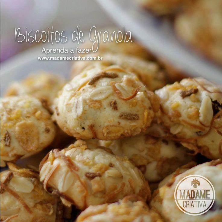Receita biscoito de granola - Dicas de como fazer -How to make granola cookies Recipe - DIY - Madame Criativa - www.madamecriativa.com.br