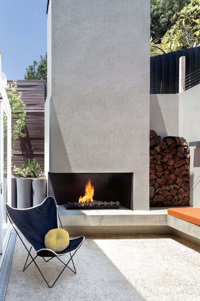 OUTDOOR fireplace http://barefootstyling.wordpress.com/