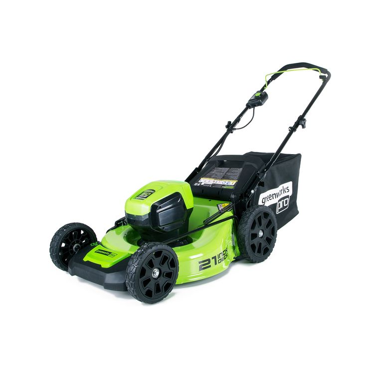 Greenworks Pro 60-Volt Brushless Lithium Ion (Li-ion) 21-in Deck Width Cordless Electric Push Lawn Mower with Mulching Capability