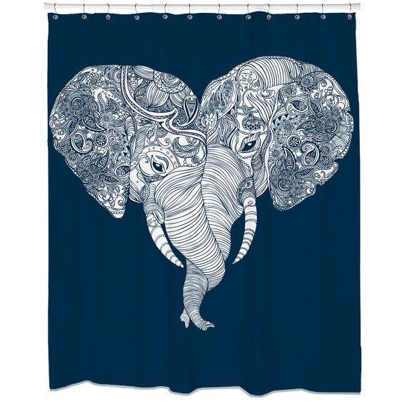Stanz-Trunk Liebe Elefant Herz Duschvorhang Haken von sharpshirter