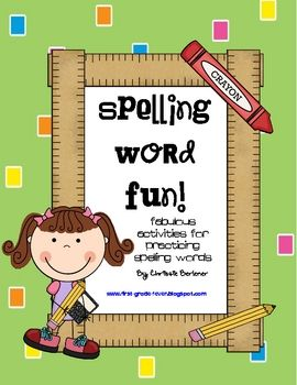 This is a collection of fabulous spelling word activities designed to be used with your own spelling words... check out later