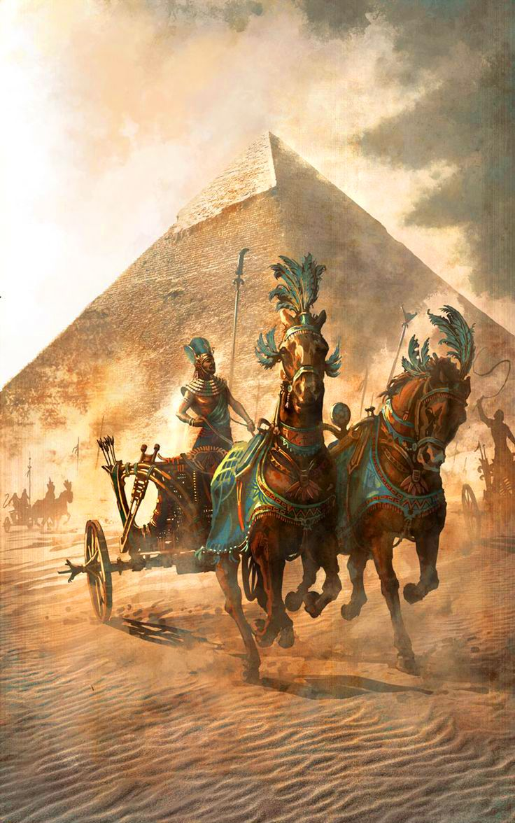 Egyptian war chariot Ancient War Art Pinterest