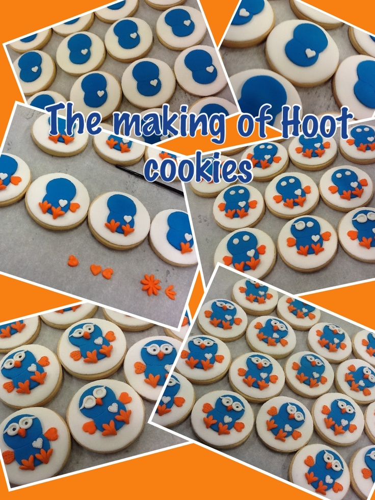 Making Hoot decorated cookies