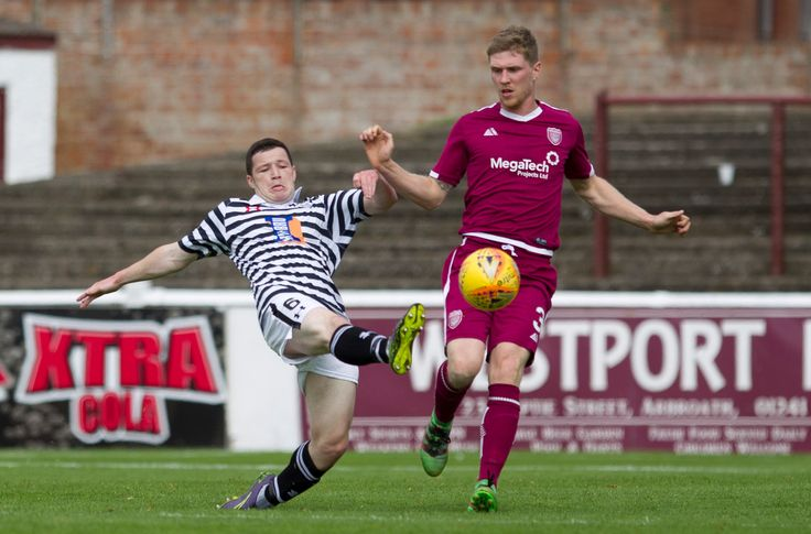 Queen's Park's Conor McVey in action during the SPFL League One game between Arbroath and Queen's Park.