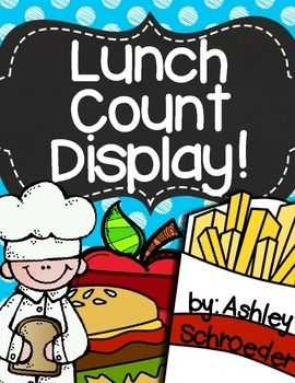 Lunch Count Choice and Display Labels Bright Polka Dots CH