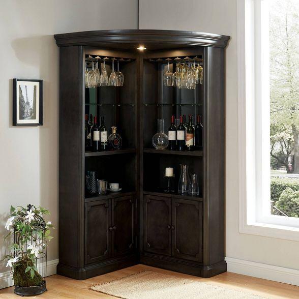 Clarendon Wood Curio Cabinet Gray Iohomes Curio Cabinet