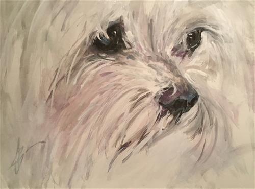 "Daily Paintworks - ""Hannah Rose"" - Original Fine Art for Sale - © Annette Balesteri"