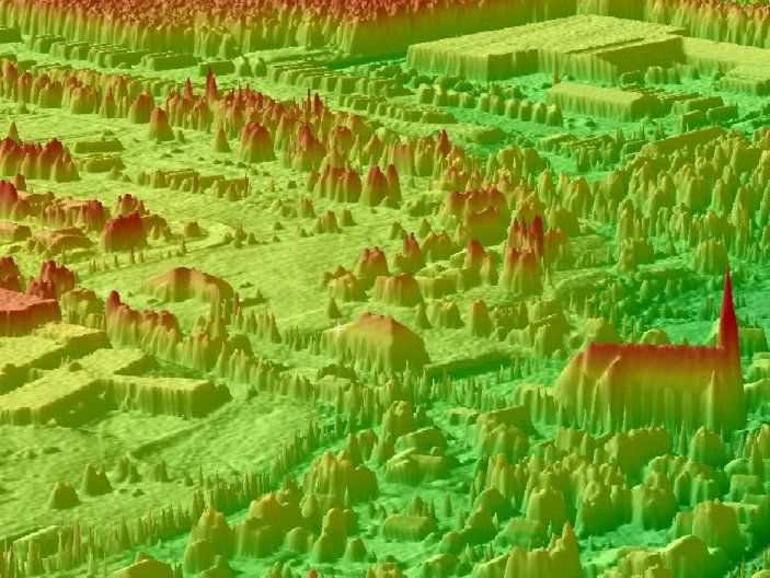3D LIDAR image of Bouctouch, New Brunswick