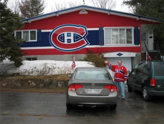 Maison des canadiens home of the habs objets tricolore for Annonceur maison du canadien