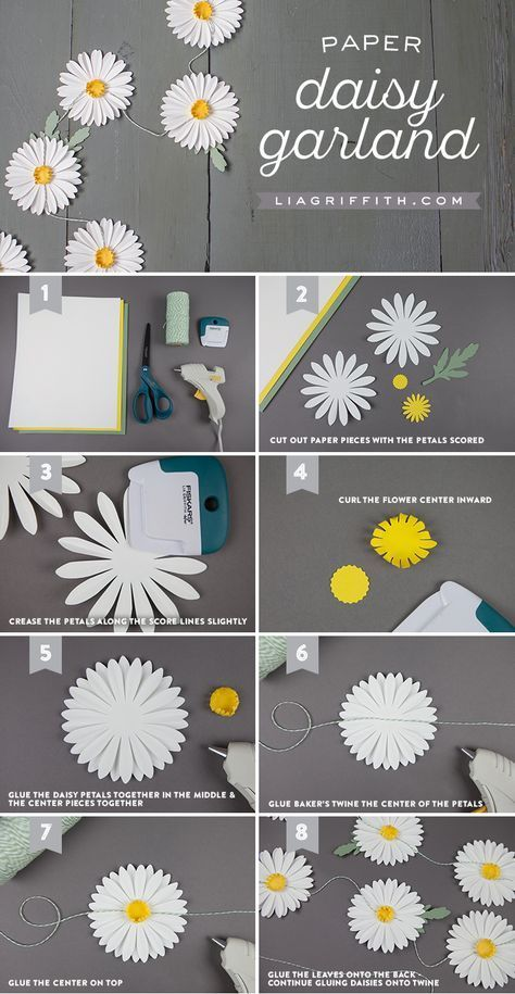 diy easy paper daisy chain to string up in your home
