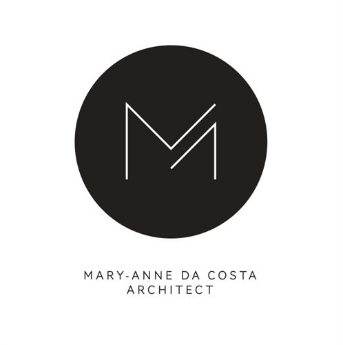 beautiful minimalist logo for mary anne da costa architect simple and modern