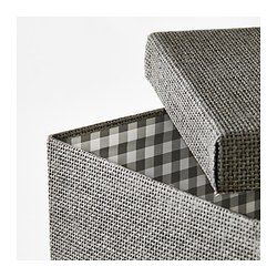 KVARNVIK Kasten mit Deckel, grau - grau - 21x29x15 cm - IKEA