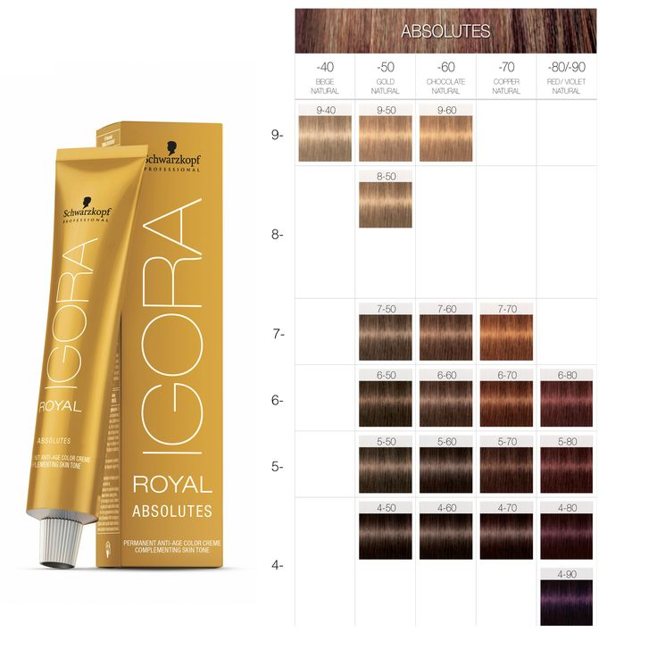 Schwarzkopf Professional Igora Royal Absolutes Color Chart